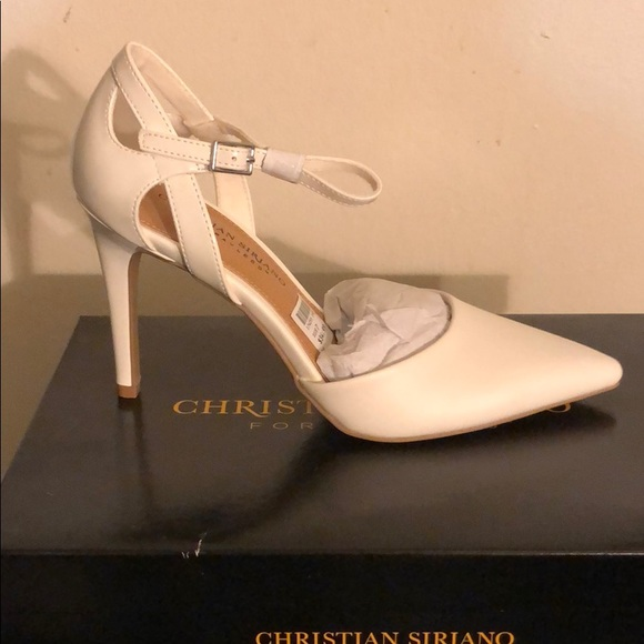 Christian Siriano Shoes   White Pumps